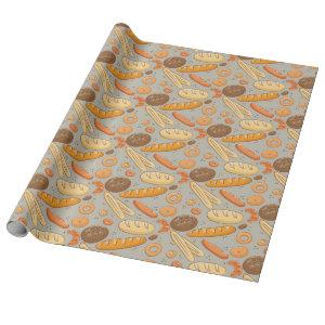 Bread Bakery Pattern Wrapping Paper