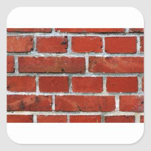 Brick Pattern Square Sticker