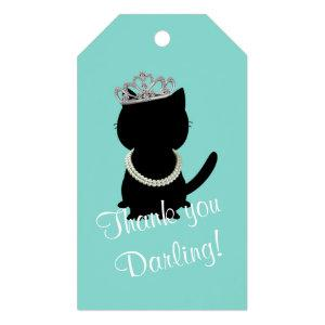 BRIDE & CO Tiffany Cat Birthday Shower Tiara Party Gift Tags