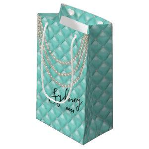 BRIDE Glam & Pearls Bridal Shower Party Small Gift Bag
