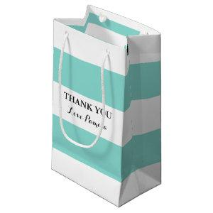 BRIDE Teal Blue And White Shower Party Small Gift Bag
