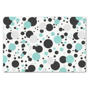 BRIDE Teal Blue Polka Dot Bridal Shower Party Tissue Paper