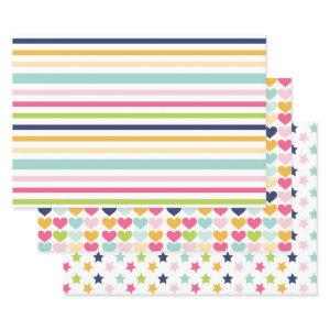 Bright Colorful Birthday Party Wrapping Paper Sheets