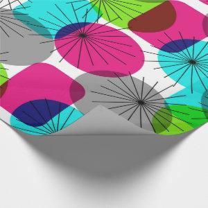 Bright Colorful Modern Geometric Pattern Wrapping Paper