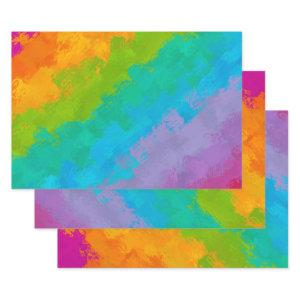 Bright Rainbow Birthday Wrapping Paper