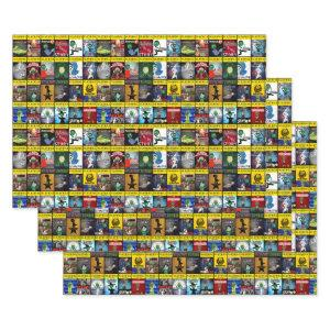Broadway Zombie Theatre Programs Wrapping Paper Sheets