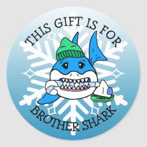 Brother Shark, This gift if for Gift Tag Christmas
