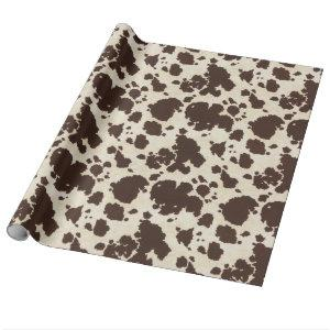 Brown and white Cowhide wrapping paper. Wrapping Paper