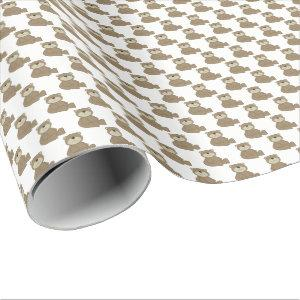 Brown Teddy Bear Wrapping Paper