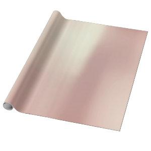 Brush Champaign Pink Rose Gold Powder Minimal Wrapping Paper