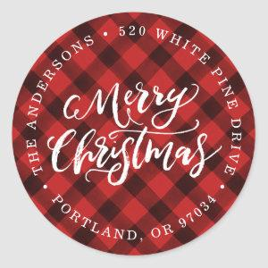 Brush Script Merry | Holiday Return Address Labels