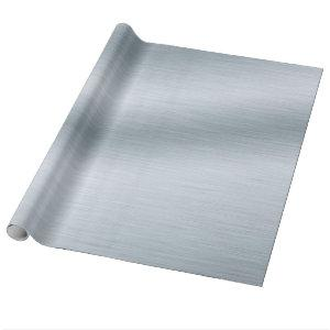 Brushed Silver Look Background Wrapping Paper