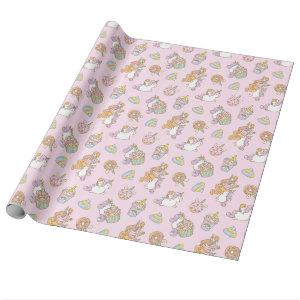 Bubu the Guinea pig, Unicorn Party Pattern Wrapping Paper