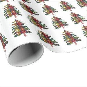 Buchanan Tartan Christmas Tree Wrapping Paper