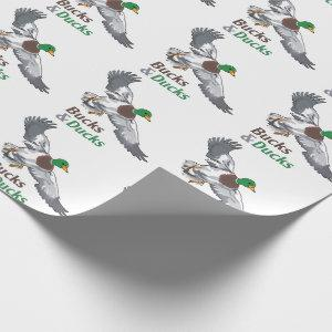 Bucks and Ducks Wrapping Paper