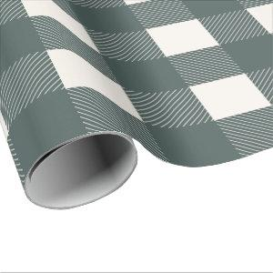 Buffalo Check Hunter Green Simple Stylish Trendy Wrapping Paper