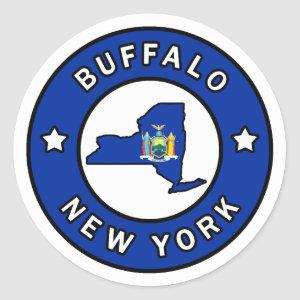 Buffalo New York Classic Round Sticker
