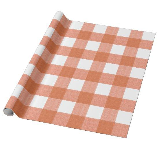 Buffalo Plaid in Pumpkin Wrapping Paper