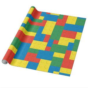 Building blocks wrapping paper