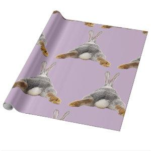 Bunny Butt Tail Funny Cute Easter Spring Wrapping Paper