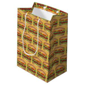 Burger Cheeseburger Reunion Picnic Cookout Party Medium Gift Bag