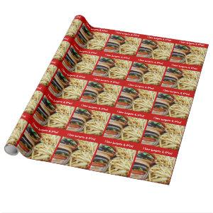 Burgers and Fries Wrapping Paper