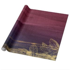 Burgundy and Gold Wrapping Paper
