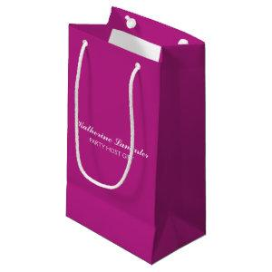 Butterfly Love | Solid Color Magenta 5 Personal Small Gift Bag