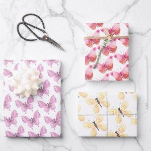 Butterfly Wrapping Paper Sheets