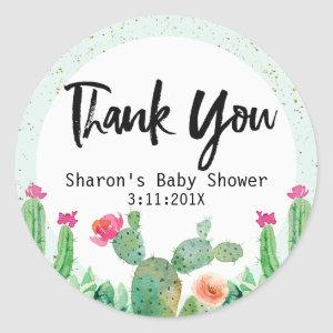 Cactus Baby Shower Sticker