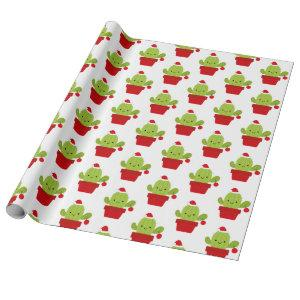 Cactus Christmas Gift Wrapping Paper