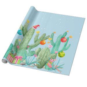 Cactus Desert Southwest Cacti Holiday Christmas Wrapping Paper