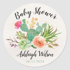 Cactus Fiesta Baby Shower Sticker