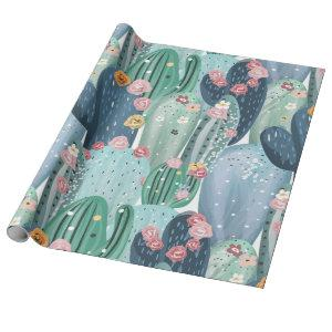 Cactus Overload Wrapping Paper