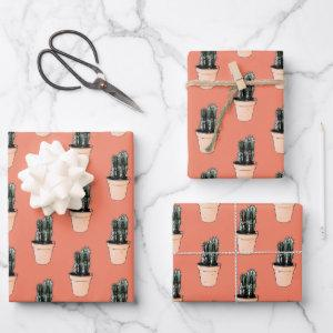 Cactus Wrapping Paper Sheet Set
