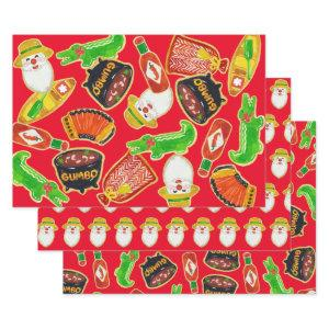 Cajun Christmas Cookie Wrapping Paper Sheets