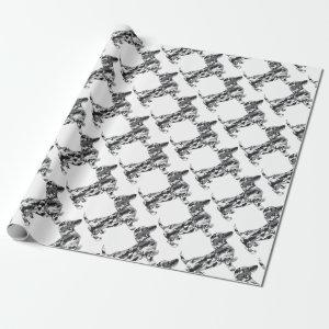 Camo-Grey-Doxie Wrapping Paper