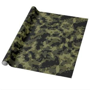 Camo Pattern Wrapping Paper