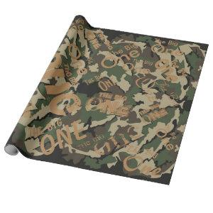 Camo The Big One Wrapping Paper