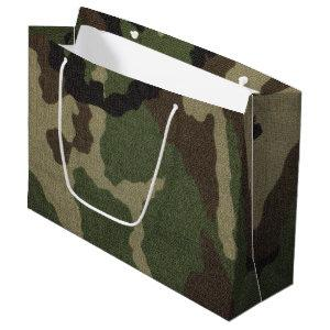 Camouflage 1 large gift bag