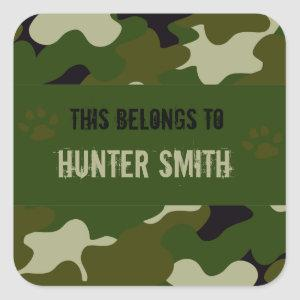 Camouflage Square Sticker