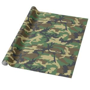 Camouflage Woodlands Pattern wrapping Paper