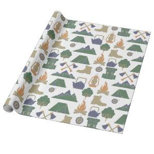 Camping and Outdoor Gear Campers Patterned Wrapping Paper