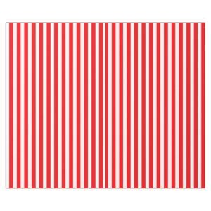 Candy Cane Stripes in Christmas Red and Snow White Wrapping Paper