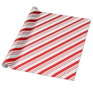 Candy Cane Stripes Wrapping Paper