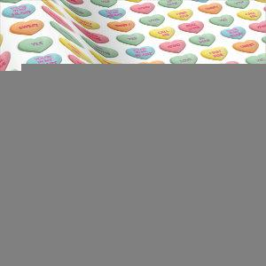 Candy Love Hearts Romantic Words Pattern Wrapping Paper