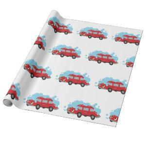 Car Wash Wrapping Paper