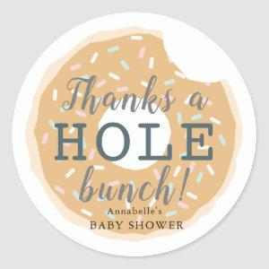 Caramel Donut Baby Shower Thank You Sticker