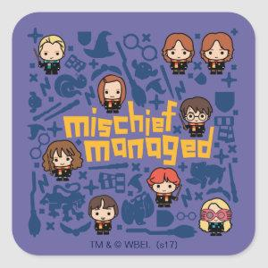 "Cartoon ""MISCHIEF MANAGED™"" Graphic Square Sticker"