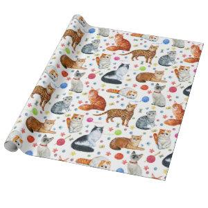 Cat Breeds Wrapping Paper